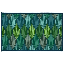 tapis deco rectangle 50 x 80 cm imprime winter green