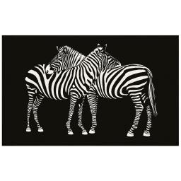tapis deco rectangle 50 x 80 cm imprime zebre