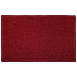 Tapis deco rectangle 50 x 80 cm uni primo Rouge