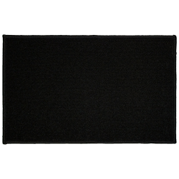 Tapis deco rectangle 50 x 80 cm uni primobis Noir