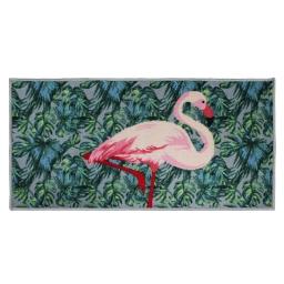 tapis deco rectangle 57 x 115 cm imprime caraibe rose