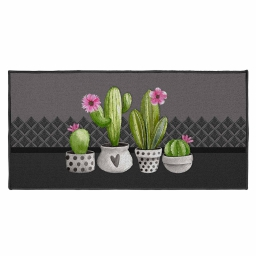 tapis deco rectangle 57 x 115 cm imprime exotic
