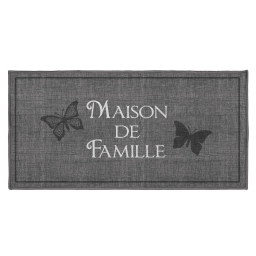 tapis deco rectangle 57 x 115 cm imprime familia