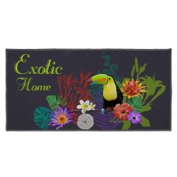 tapis deco rectangle 57 x 115 cm imprime fleuraison