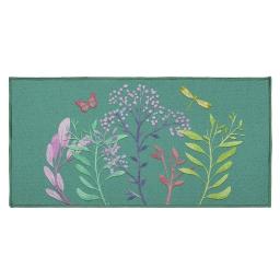 tapis deco rectangle 57 x 115 cm imprime fresh flower