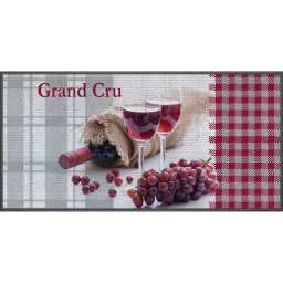 tapis deco rectangle 57 x 115 cm imprime grand cru