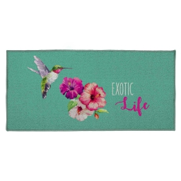 tapis deco rectangle 57 x 115 cm imprime libry