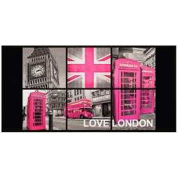 tapis deco rectangle 57 x 115 cm imprime london girl