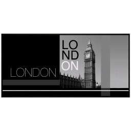 tapis deco rectangle 57 x 115 cm imprime london time