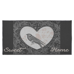 tapis deco rectangle 57 x 115 cm imprime love birds