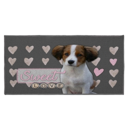 tapis deco rectangle 57 x 115 cm imprime love doggy