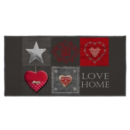 tapis deco rectangle 57 x 115 cm imprime love home