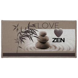 tapis deco rectangle 57 x 115 cm imprime love zen