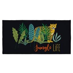 tapis deco rectangle 57 x 115 cm imprime mystic jungle