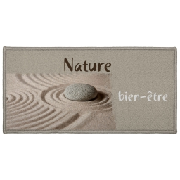 tapis deco rectangle 57 x 115 cm imprime ondulation
