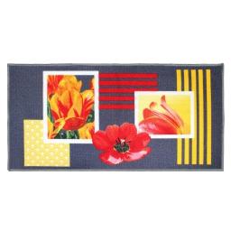tapis deco rectangle 57 x 115 cm imprime passion coquelicots