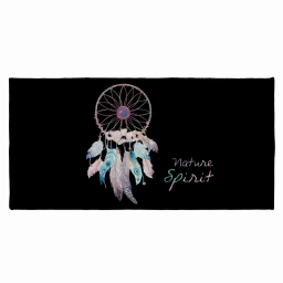 tapis deco rectangle 57 x 115 cm imprime tipi spirit