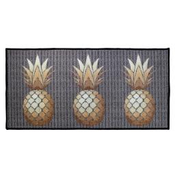 tapis deco rectangle 57 x 115 cm imprime trio ananas