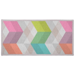 Tapis deco rectangle 57 x 115 cm imprime ultragraphic Pastel