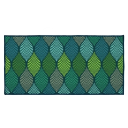 tapis deco rectangle 57 x 115 cm imprime winter green