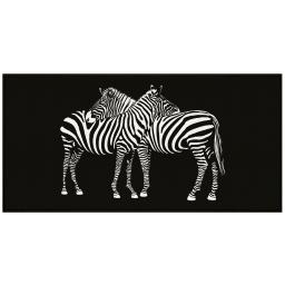tapis deco rectangle 57 x 115 cm imprime zebre
