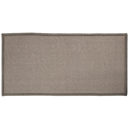 Tapis deco rectangle 57 x 115 cm uni primo Gris