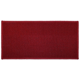 Tapis deco rectangle 57 x 115 cm uni primo Rouge