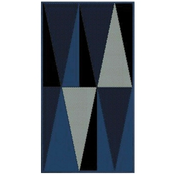 Tapis deco rectangle 60 x 110 cm tisse khaba Bleu