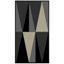 Tapis deco rectangle 60 x 110 cm tisse khaba Gris