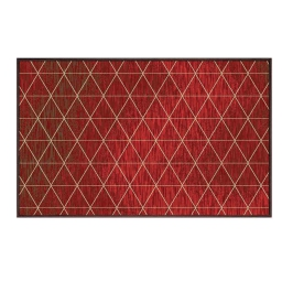 Tapis deco rectangle 60 x 110 cm tisse triosika Rouge