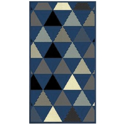 Tapis deco rectangle 60 x 110 cm tisse twini Bleu