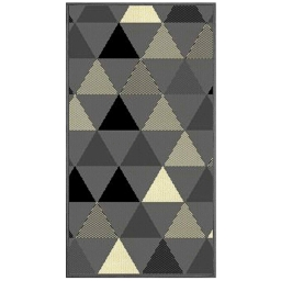 Tapis deco rectangle 60 x 110 cm tisse twini Gris