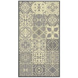 Tapis deco rectangle 60 x 110 cm tisse vigo Naturel