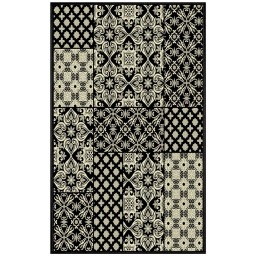tapis deco rectangle 68 x 110 cm viscose tissee manoir