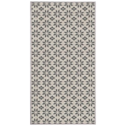 tapis deco rectangle 80 x 150 cm tisse reversible cemento