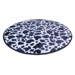 tapis deco rond (0) 90 cm imitation peau de bete feria