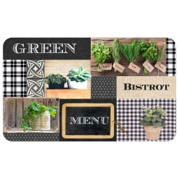 Tapis en mousse rectangle 45 x 75 cm Green bistrot