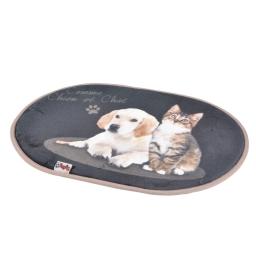 tapis l60*l40cm design comme chien et chat 100% polyester animaux