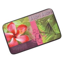 tapis microfibre theme bora bora avec motifs 45x75cm - licence ushuaia