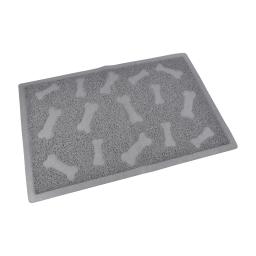 tapis pvc rectangle pour chien l40*60cm gris impressions os
