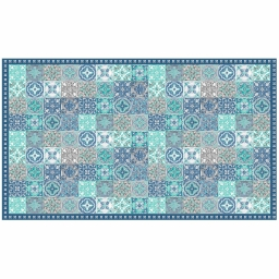 Tapis rectangle 100 x 170 cm vinyle alicante Bleu