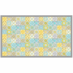 Tapis rectangle 100 x 170 cm vinyle alicante Jaune