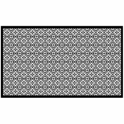 Tapis rectangle 100 x 170 cm vinyle vittoria Noir