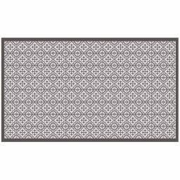 Tapis rectangle 100 x 170 cm vinyle vittoria Taupe