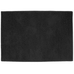 Tapis rectangle 117 x 166 cm tisse uni twist Noir