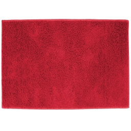 Tapis rectangle 117 x 166 cm tisse uni twist Rouge