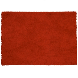 Tapis rectangle 120 x 170 cm tisse uni palace Rouge