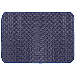 Tapis rectangle 120 x 170 cm velours imprime or graphigold Bleu