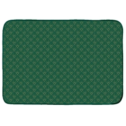 Tapis rectangle 120 x 170 cm velours imprime or graphigold Vert