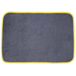 Tapis rectangle 120 x 170 cm velours uni kendo Anthracite/Jaune